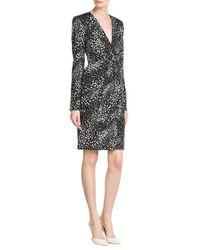 Ferragamo - Black/white Jacquard Dress - Black - Lyst