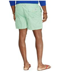 Polo Ralph Lauren | Green Big And Tall Gingham Traveler Swim Shorts for Men | Lyst