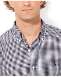 Polo Ralph Lauren | Blue Custom Fit Gingham Long Sleeve Shirt for Men | Lyst
