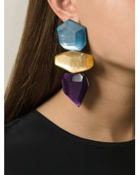 Monies - Multicolor Oversized Resin Stone Earings - Lyst