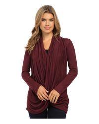 Culture Phit - Purple Cowl Neck Long Sleeve Top - Lyst