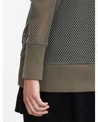 Banana Republic | Green Fishnet Pullover | Lyst