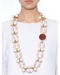 Valentina Brugnatelli - Pink Ornella Swarovski & Crystal Necklace - Lyst