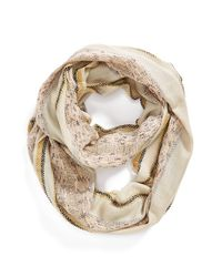 Echo - Natural 'samoa' Infinity Scarf - Lyst