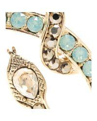 Roberto Cavalli | Metallic Swarovski Crystal-embellished Clip-on Earrings | Lyst