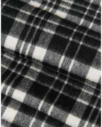 Minimum | Black Check Wool Scarf for Men | Lyst
