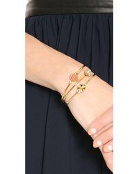 Rebecca Minkoff | Metallic Skinny Bracelet Set Gold | Lyst