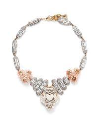 Lulu Frost - Pink 'Ingrid' Crystal Flower Necklace - Lyst