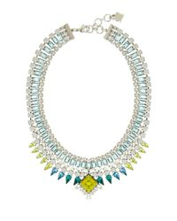 BCBGMAXAZRIA | Blue Teardrop Stone Statement Necklace | Lyst