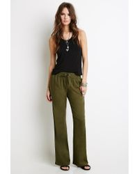 Forever 21 | Green Linen-blend Drawstring Pants | Lyst