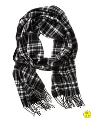 Banana Republic - Black Factory Plaid Scarf for Men - Lyst