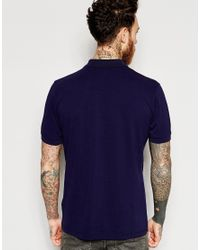 Pretty Green - Blue Polo Shirt With Logo In Navy for Men - Lyst