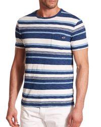 Polo Ralph Lauren - Blue Striped Cotton Jersey Tee for Men - Lyst