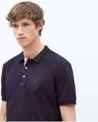 Zara | Blue Basic Polo Shirt for Men | Lyst