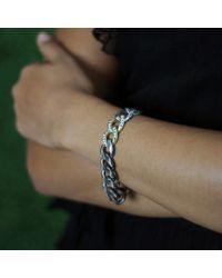 Sylva & Cie - Metallic Diamond Pave Link Bracelet - Lyst