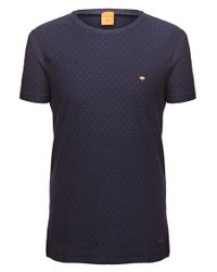 BOSS Orange - Blue Fashion Fit T-shirt 'talentino 2' In Cotton for Men - Lyst