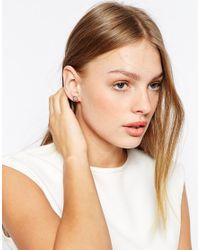 Ted Baker | Blue Tempany Enamel Logo Stud Earrings | Lyst