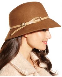 Nine West | Brown Felt Trench Coat Hat | Lyst