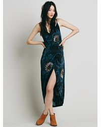 Free People | Blue Womens Summer Lady Printed Dress | Lyst