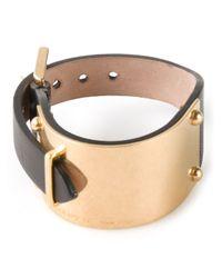 Alexander McQueen | Metallic Cuff Bracelet | Lyst