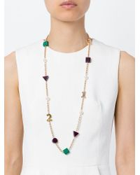 Eshvi | Metallic 'back To School' Numbers Necklace | Lyst