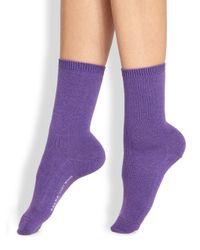 Falke | Purple Wool Ankle Socks | Lyst