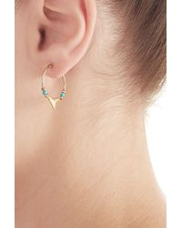 Aurelie Bidermann | Aurélie Bidermann Fine Jewelry Shark 18kt Yellow Gold Earrings With Turquoise | Lyst