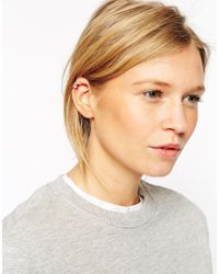 ASOS - Metallic Sterling Silver Solid Ear Cuff Pack - Lyst