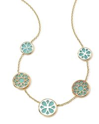 Ippolita | Metallic 18K Gold Polished Rock Candy Cutout Stone 5-Station Necklace In Isola | Lyst