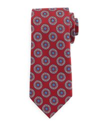 Ermenegildo Zegna - Blue Circle-medallion Print Silk Tie for Men - Lyst