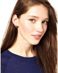 Maria Francesca Pepe - Metallic Gold Spike Hoop Earrings - Lyst