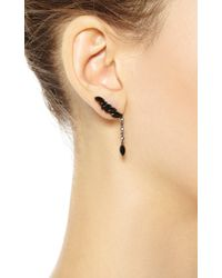 Elise Dray - Black Ganji Goutte Earring - Lyst
