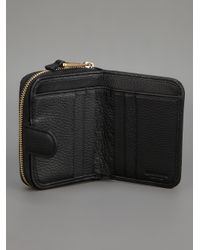 Emporio Armani - Black Zip-Around Wallet - Lyst