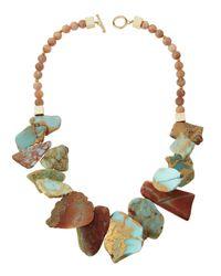 Panacea - Multicolored Jasper & Moonstone Statement Necklace - Lyst