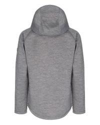 Bench | Gray Bitumen B Bonded Zip-thru Hoodie for Men | Lyst