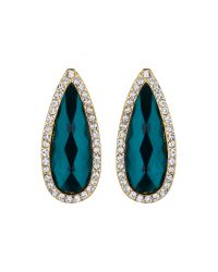 Mikey | Green Slim Oval Marquise Stud Earring | Lyst