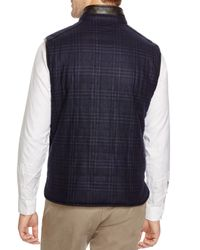 Corneliani | Blue Glen Plaid/solid Reversible Vest for Men | Lyst