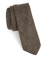 W.r.k. | Brown Houndstooth Tie for Men | Lyst