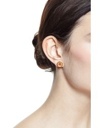 She Bee Gem | Pink Foiled Topaz Stud Earrings | Lyst