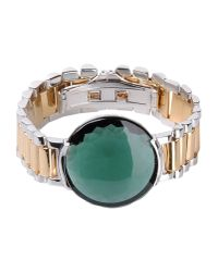 Delfina Delettrez | Watch Bangle With Green Quartz | Lyst