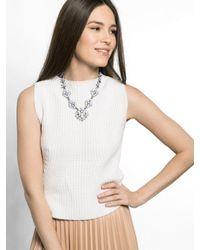 BaubleBar - White Cordelia Gem Collar - Lyst