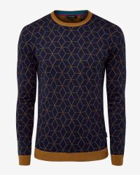 Ted Baker - Blue Geo Jumper for Men - Lyst