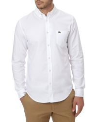 Lacoste | White Long Sleeve City Shirt for Men | Lyst