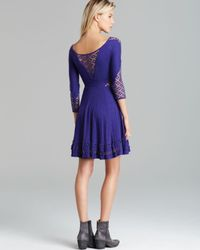 Free People | Purple Mini Dress To The Point | Lyst