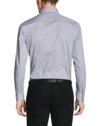 BOSS - Brown 'mark Us' | Sharp Fit, Cotton Check Dress Shirt for Men - Lyst