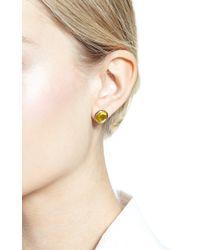 She Bee Gem - Yellow Foiled Topaz Stud Earrings - Lyst