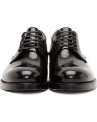 DSquared² - Black Leather Slip_on Derbys for Men - Lyst