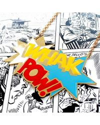 Noir Jewelry - Metallic Whak Pow Long Enamel Dc Comics Necklace - Lyst