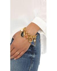 Lizzie Fortunato | Metallic Voodoo Charm Bracelet | Lyst