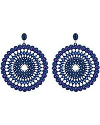 Swarovski | Blue Belle Romantic Pierced Earrings | Lyst